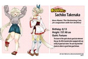 BNHA OC: Sachiko Takenaka by frillls