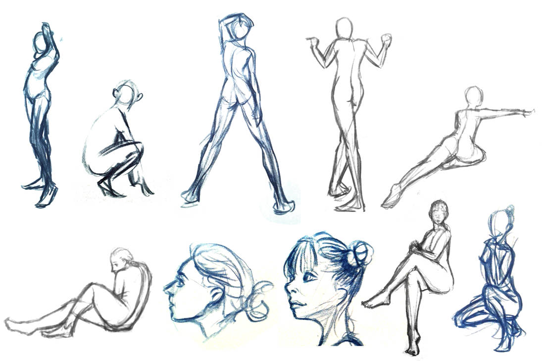 Life Drawings 2 by Cubone4000