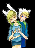 Finn + Fionna by hannibal-cannibal