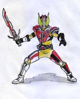 Kamen Rider FUSION : DEN-O + DECADE by SayaTukangGambar