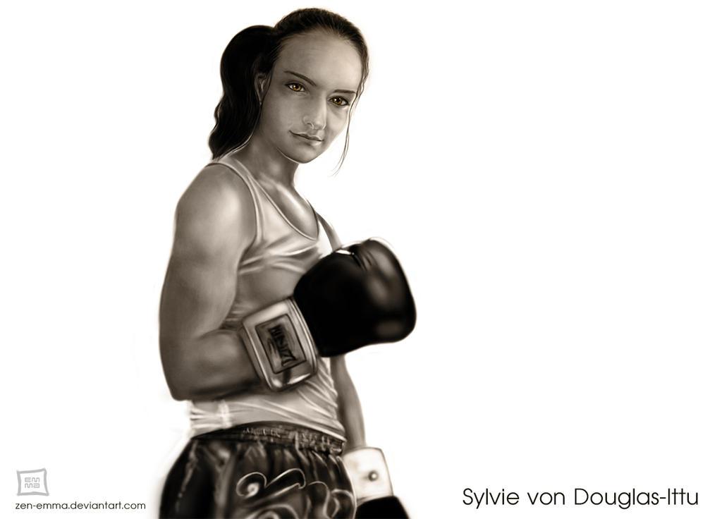 Muay Thai girl boxer by zen-emma