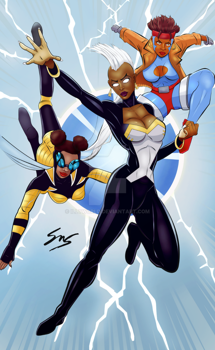 Storm, Bumblebee and Rocket Crossover Fan Art by IllyW0rld