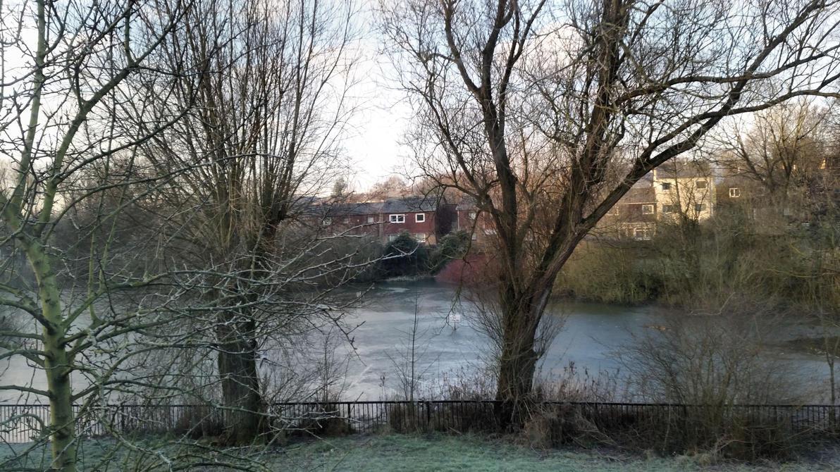 Frozen lake by Rozrr