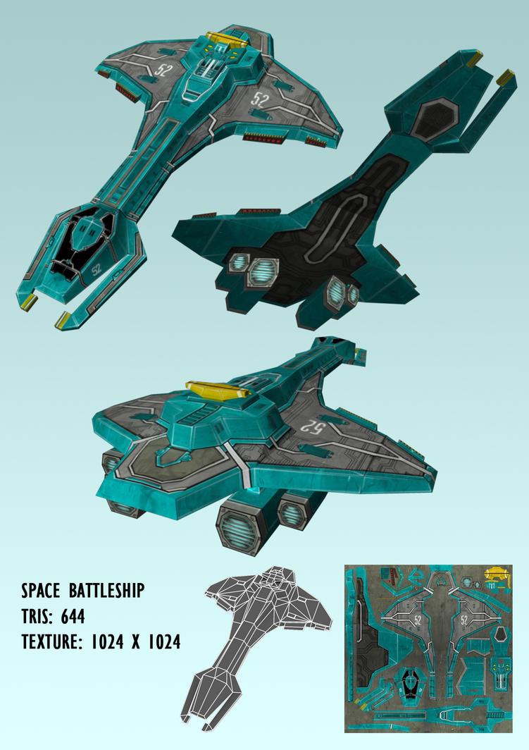 Space Battleship by Ninja-Robot