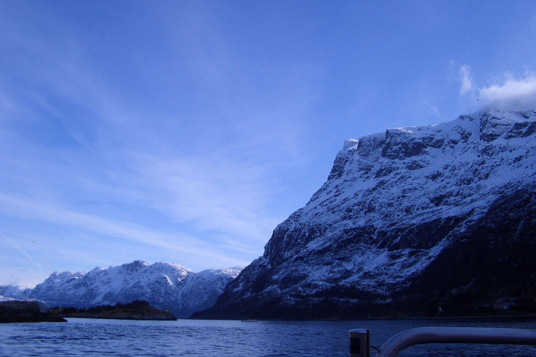 Winter Fjord by poisondcandy