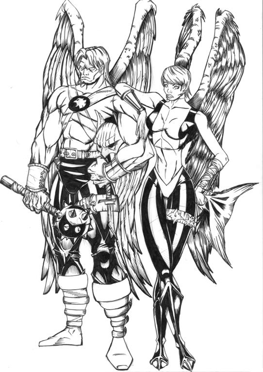 coloring pages of hawkgirl - photo#17