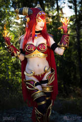 Alexstrasza Cosplay from World of Warcraft. by TineMarieRiis