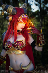 Alexstrasza Cosplay from World of Warcraft ! by TineMarieRiis