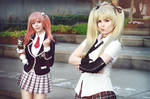 Marie Rose and Honoka Cosplay - Pout!