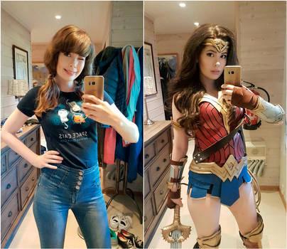 Real Life vs Wonder Woman by TineMarieRiis