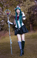 Sailor Pluto - Thinking of Small Lady...~ by TineMarieRiis