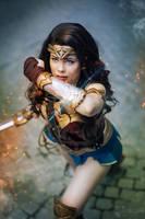 Battle! - Wonder Woman Cosplay by TineMarieRiis