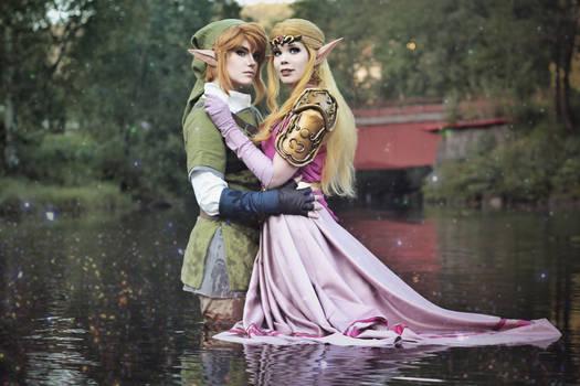 Link and Zelda  - Courage and Wisdom - Cosplay