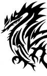 Tribal Dragon by EvilTank