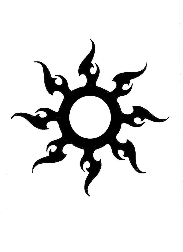 Tribal Sun Tattoo Design Picture 1