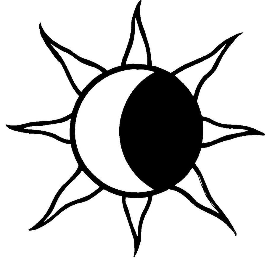Line Art Moon : Sun moon by eviltank on deviantart
