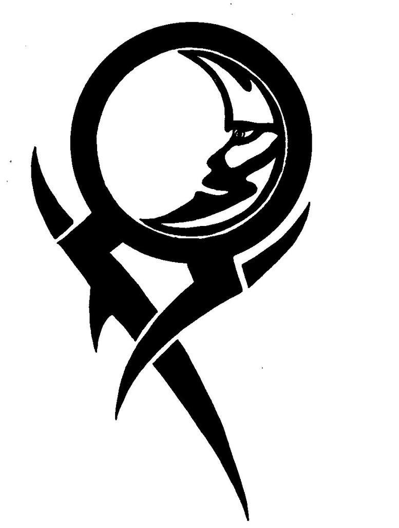 tribal glyph moon by eviltank on deviantart. Black Bedroom Furniture Sets. Home Design Ideas