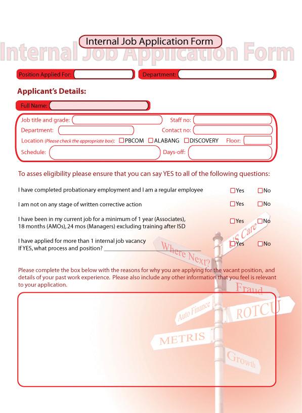 Internal Job Application Form By Firem0nkey On Deviantart