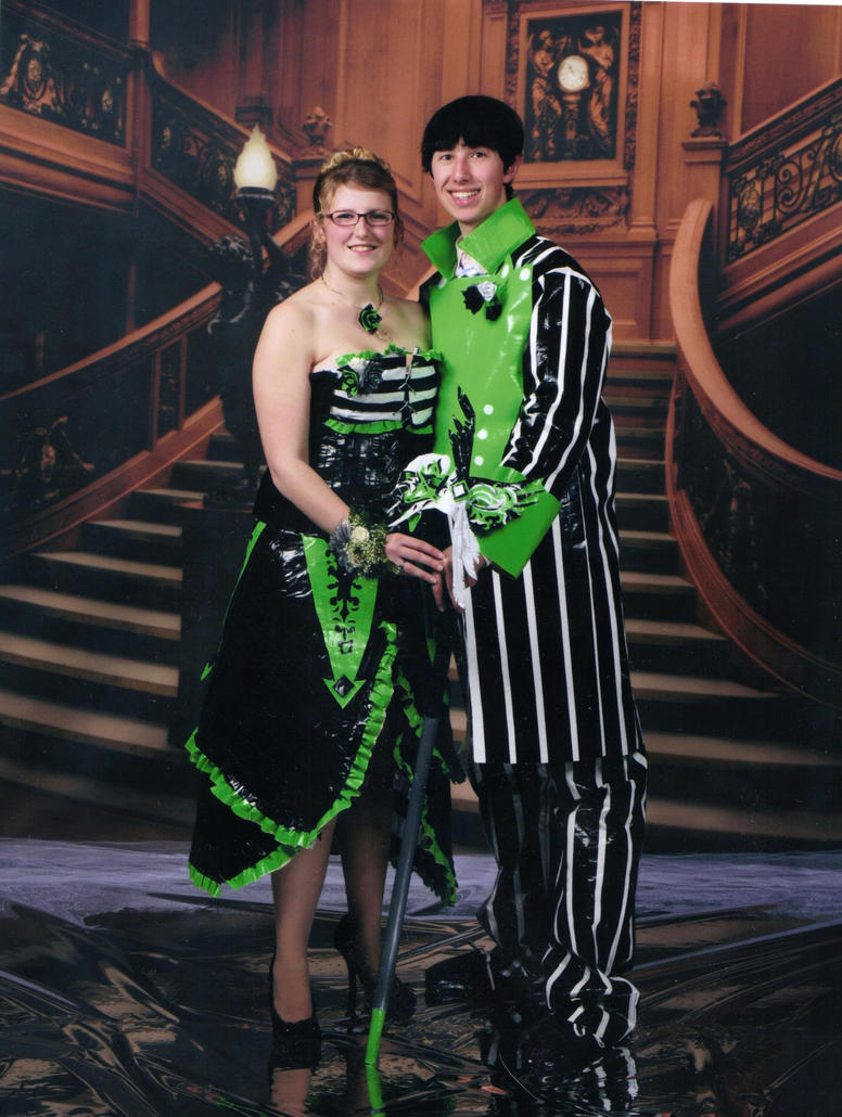 Duck Tape Prom Dress by ShannayConnor