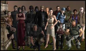 Resident evil group photo