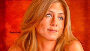 Jennifer Aniston Smudge Painting