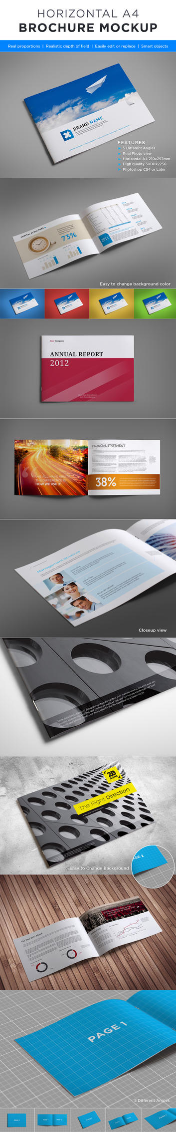 Horizontal brochure mock up by genetic96 on deviantart for Horizontal brochure design