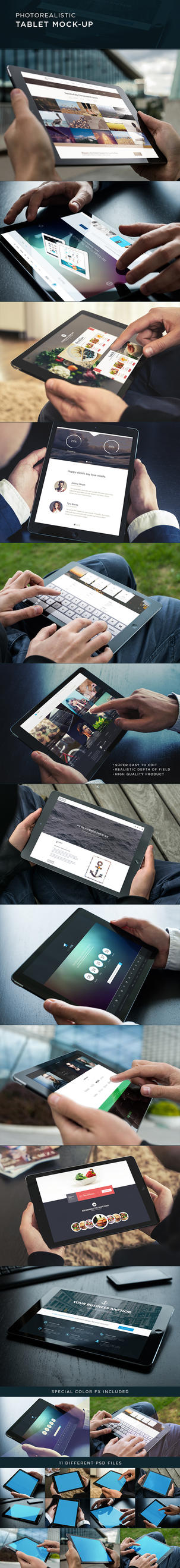 Photorealistic Tablet Mock-Up by Genetic96