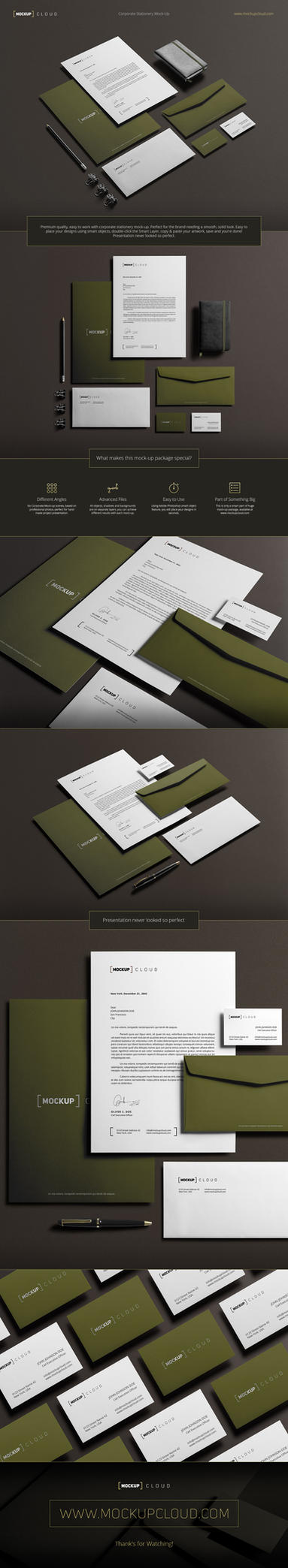 Corporate Stationery Mock-Up by Genetic96