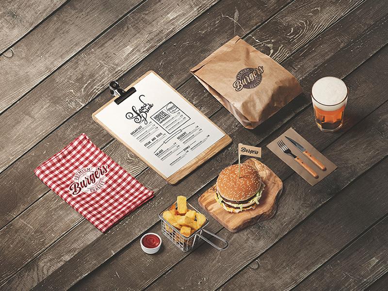 Burger Diner Mock-Up by Genetic96