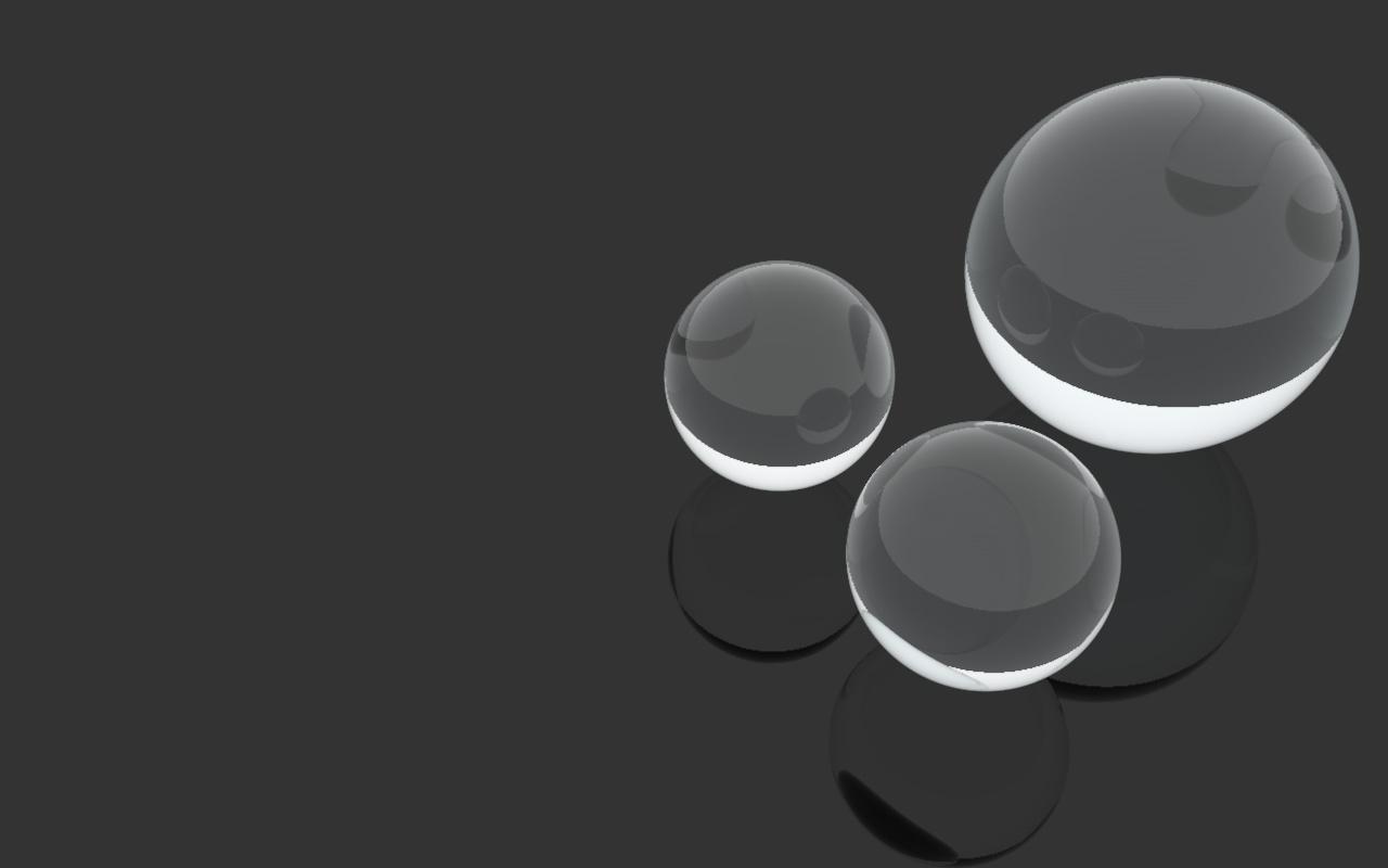 Glass Spheres Wallpaper by DisirVanir on DeviantArt