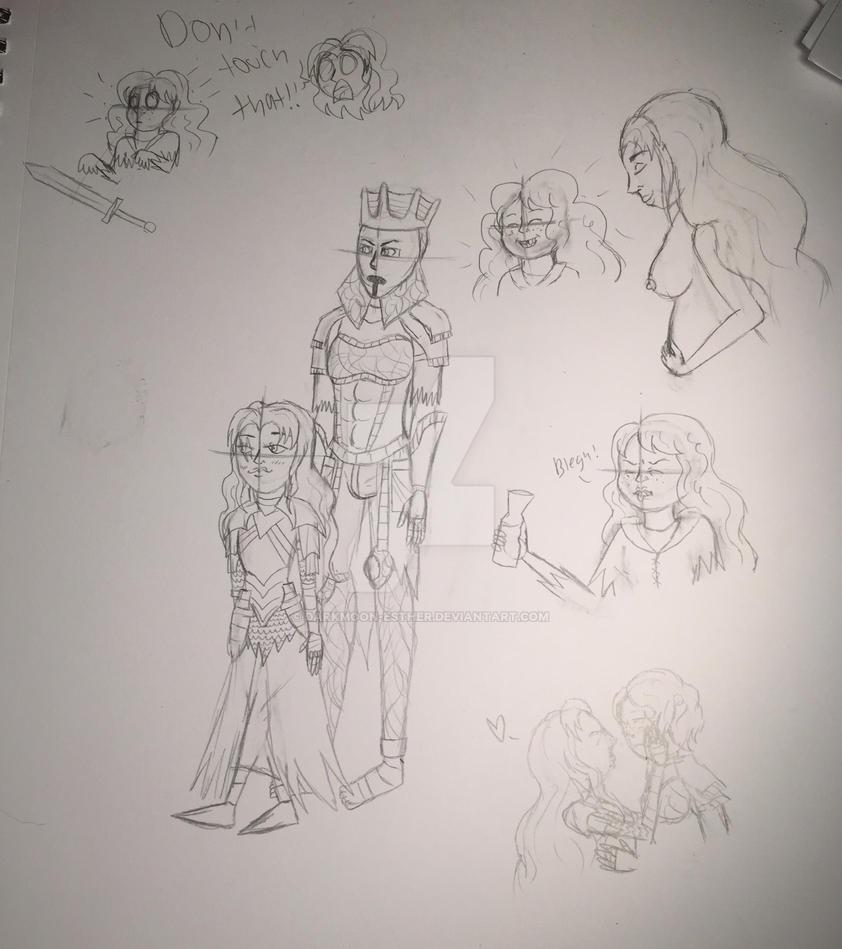 Doodles by Ashen-Esther