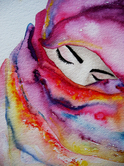 Painting hijab by nysahanny on deviantart for Pretty watercolor pictures