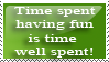 Time Well Spent Stamp by Fischy-Kari-chan