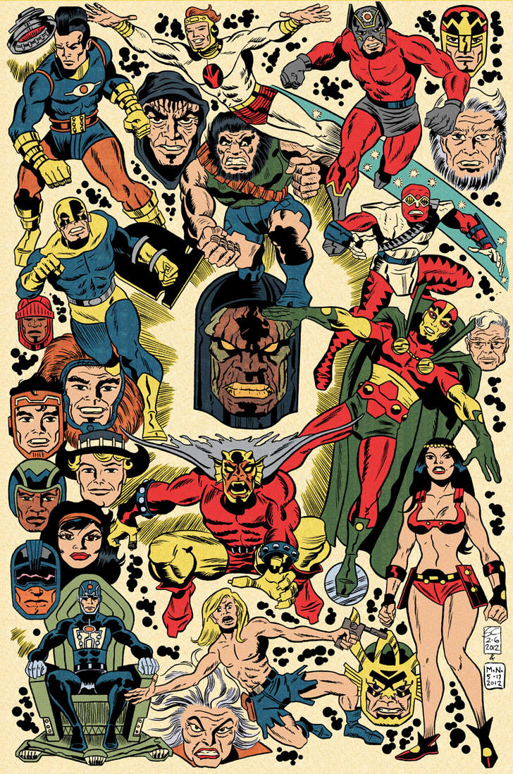 Jack Kirby Tribute Poster By Mrneno On Deviantart
