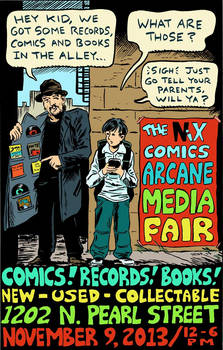 Poster designed for the Arcane Media Fair 2013