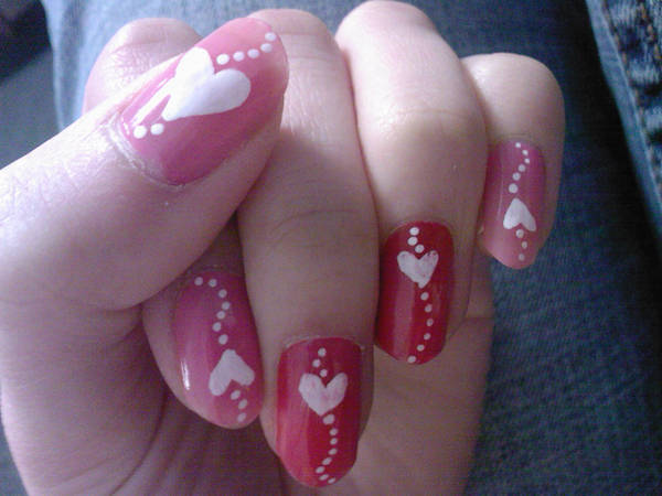 heart nails by eye-lover