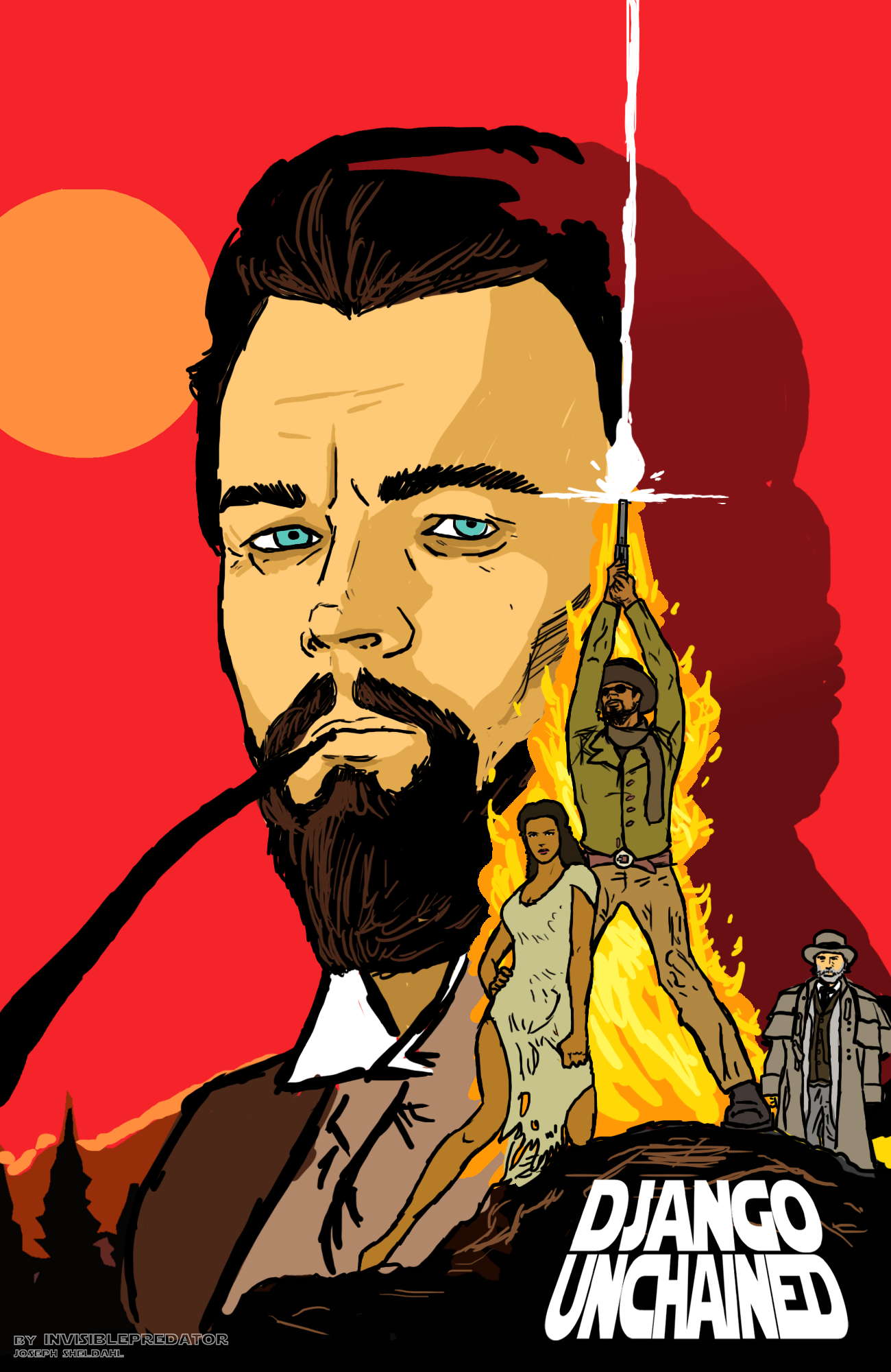 Django Unchained Poster by NiteOwl94