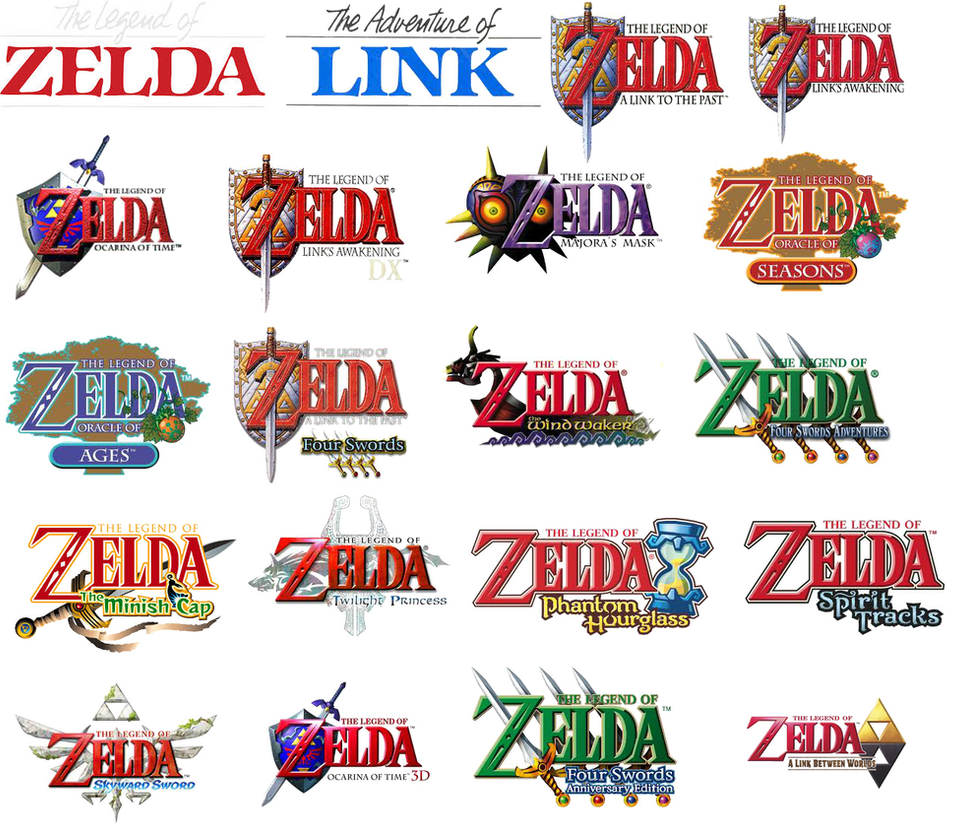 Zelda Logo Collage By WildervilleBull94