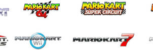 Mario Kart Logos by WildervilleBull94