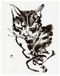 Cat InkTober