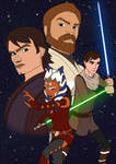 'The Four Jedi' Clone Wars by xxTheTruMan196