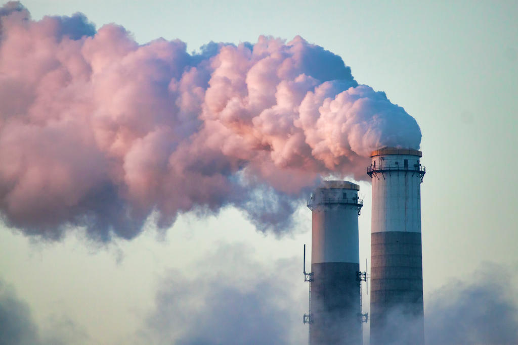 smoke from an industrial smokestack by tomfawls on deviantart