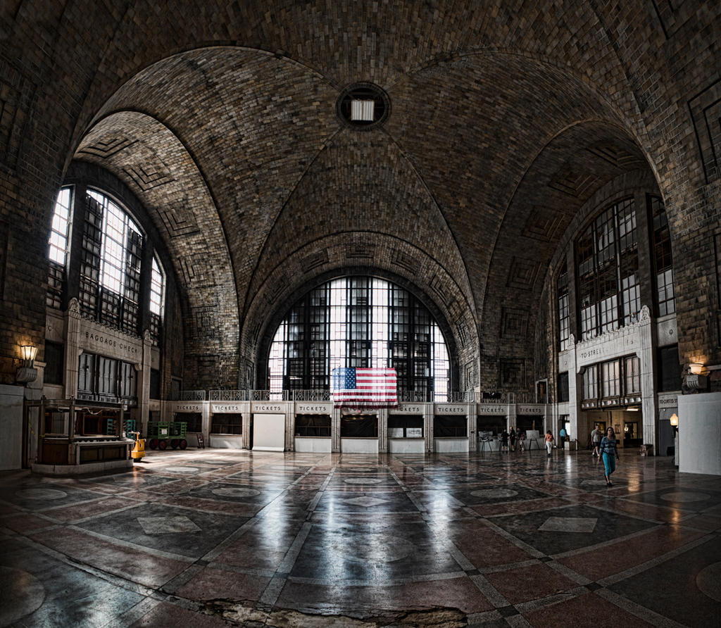 Buffalo Central Terminal Main Concourse By Tomfawls On Deviantart