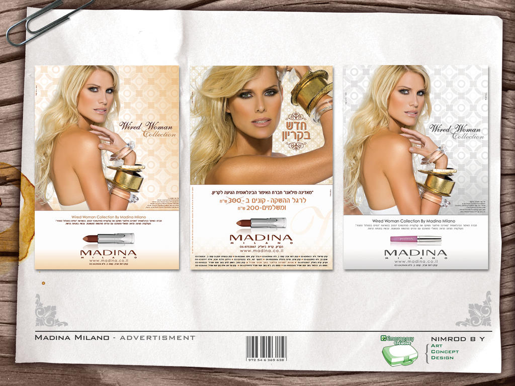 Madina Milano Cosmetics Madina Milano Ads1 by Nimoby