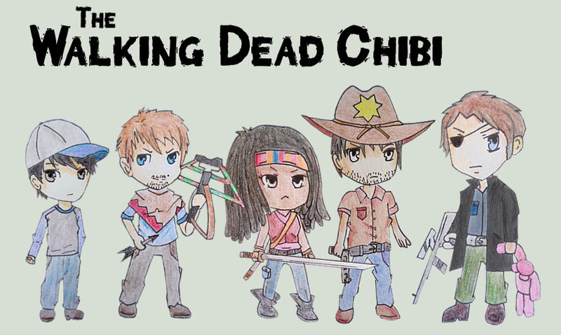 The Walking Dead Chibi by Coldmoose