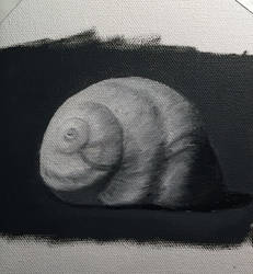 Adventures in Oil Paints: Monochromatic Shell