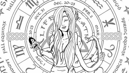 Elvina-EXE's Oc Lucia Faye Inking by l7wahn