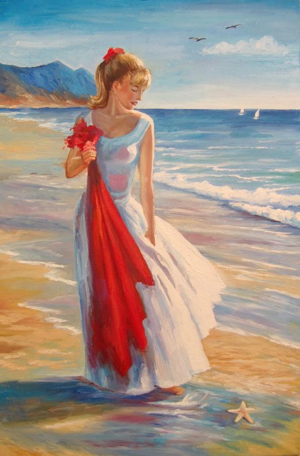 A woman near sea by Kaitana