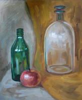 Apple with bottles by Kaitana