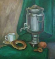 Stillife with samovar etude by Kaitana